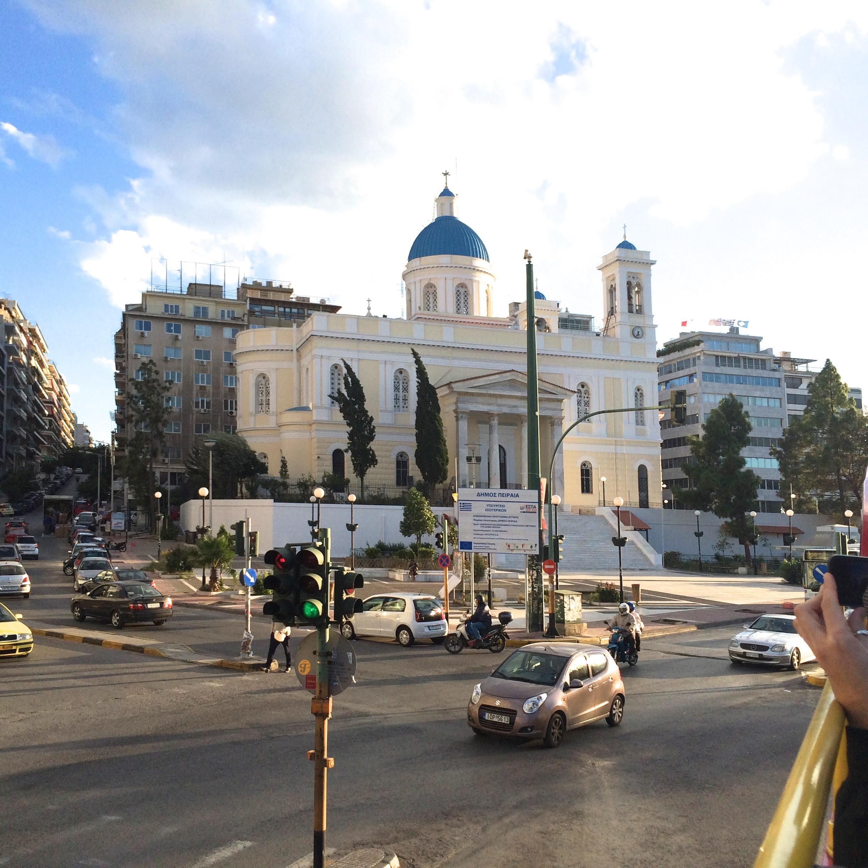 Church of Saint Nicholas, filled with beautiful art in Piraeus near the Athens seaside.