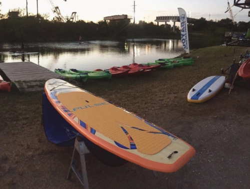 Paddleboarding on Bayou St. John