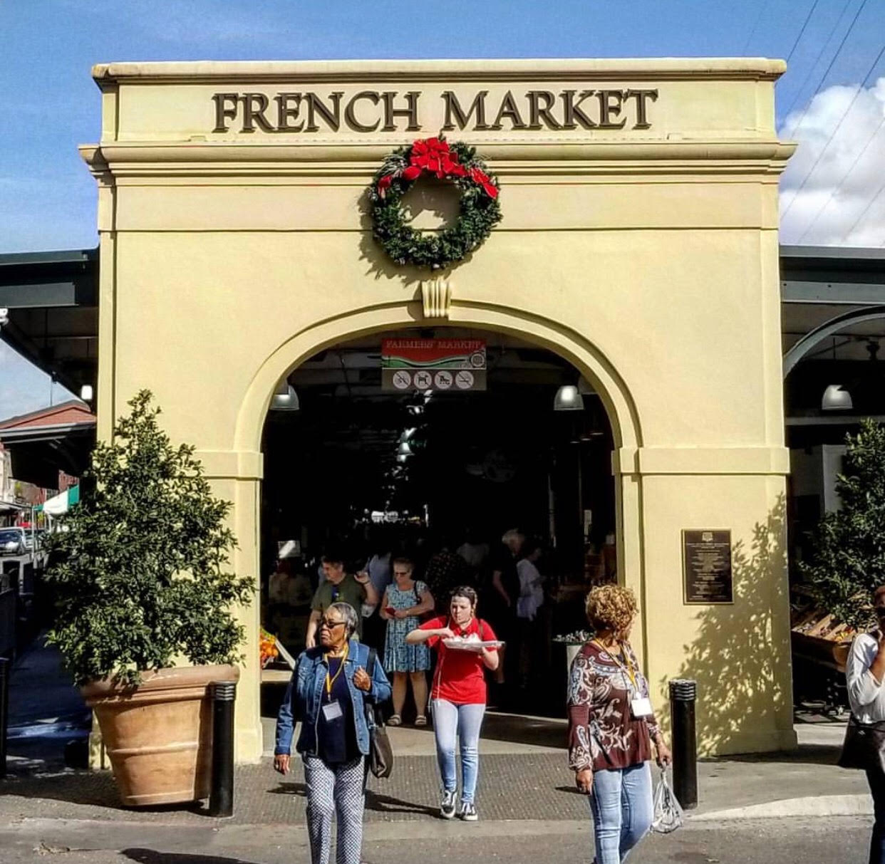 New Orleans's world famous French Market.
