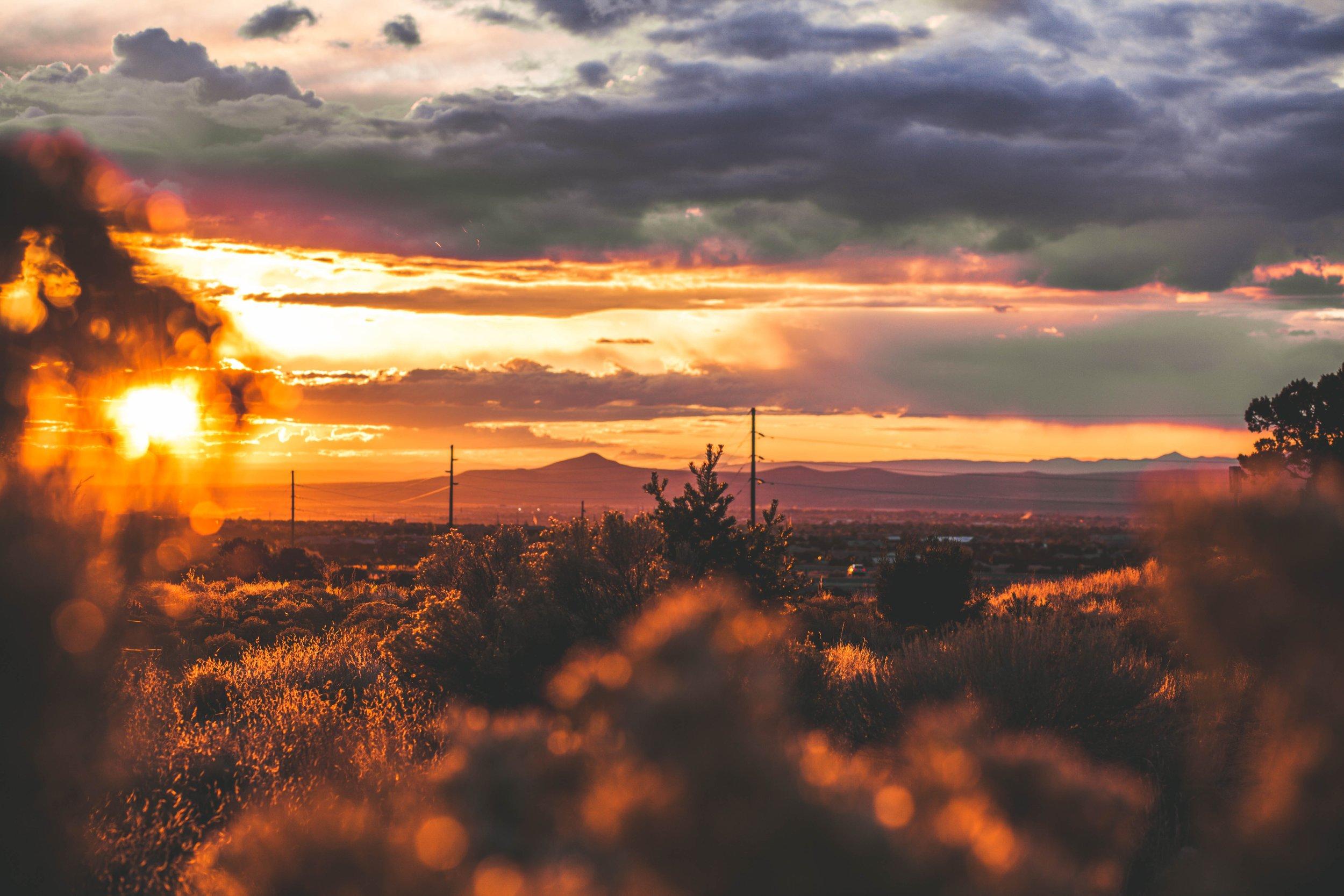 Santa Fe Sunset. Photo by  Maddy Baker  on  Unsplash