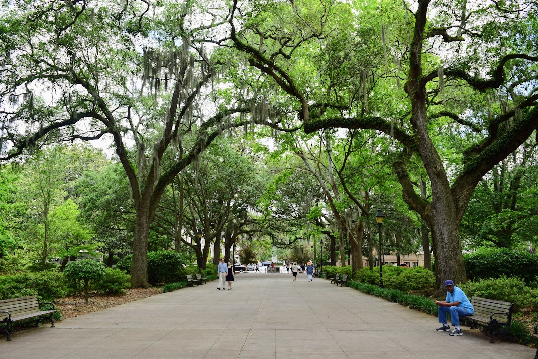 One of the many parks to explore in Savannah, Georgia