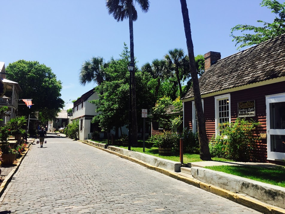 The charming cobble stone streets of St. Augustine