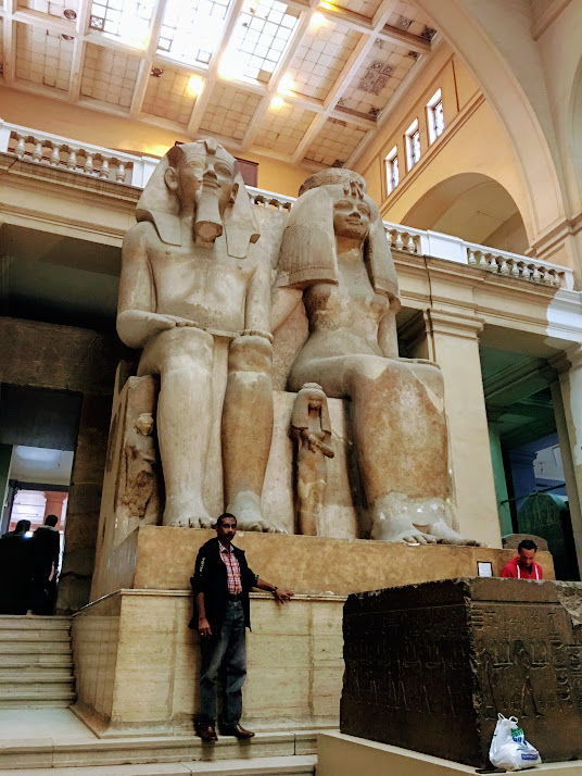 Giant statues in the Egyptian Museum, Cairo, Egypt