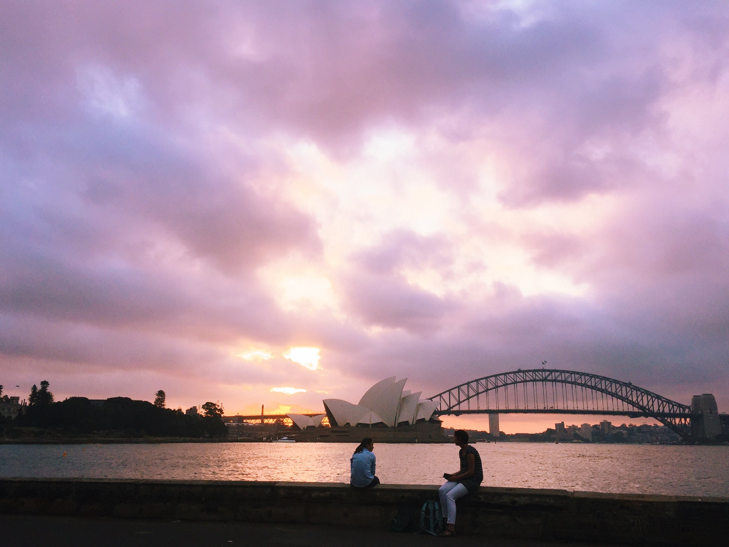 The view from Mrs. Macquarie's chair