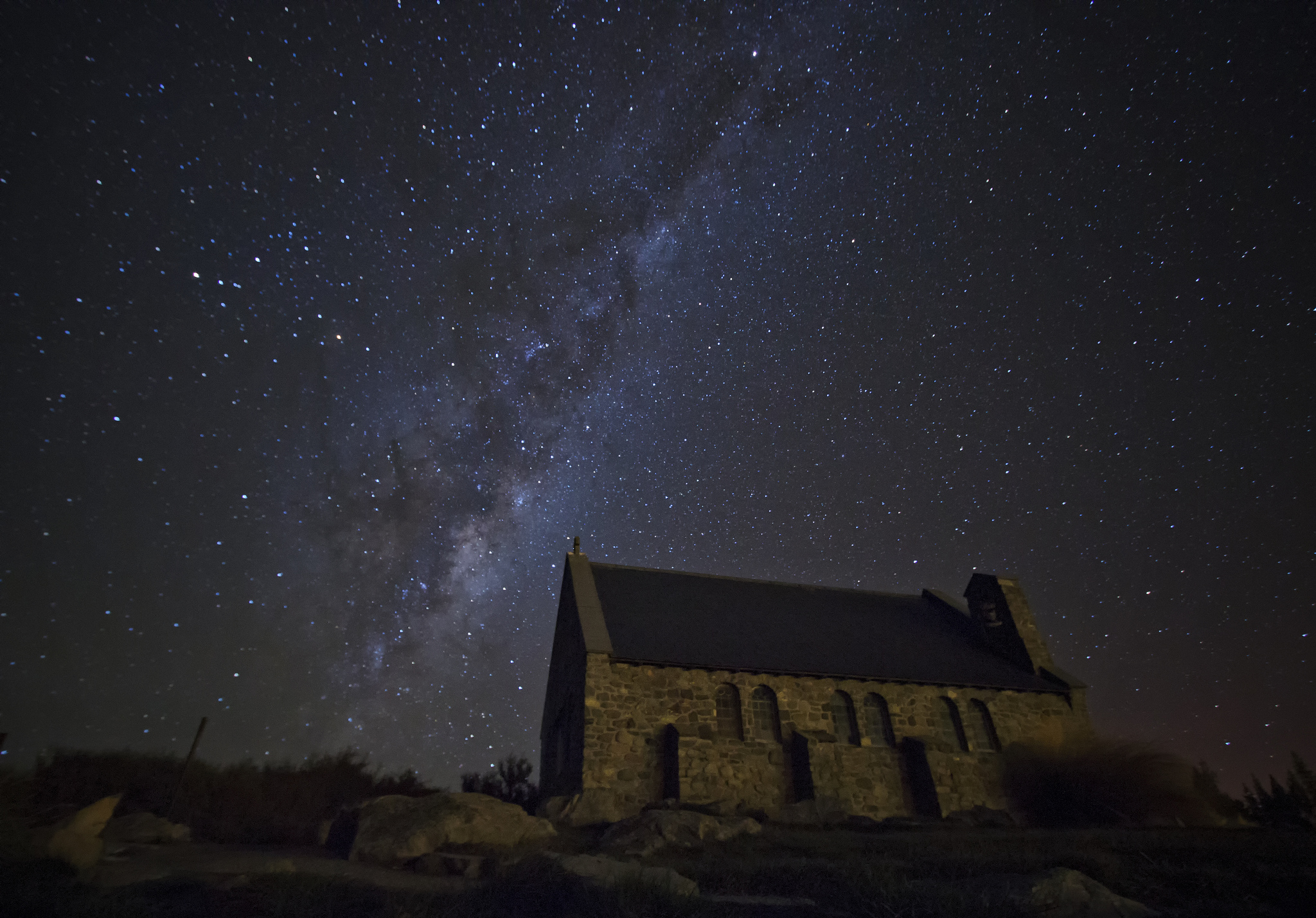 The Church of the Good Shepherd at night. Photo by  Jose Gallego  via  flickr .