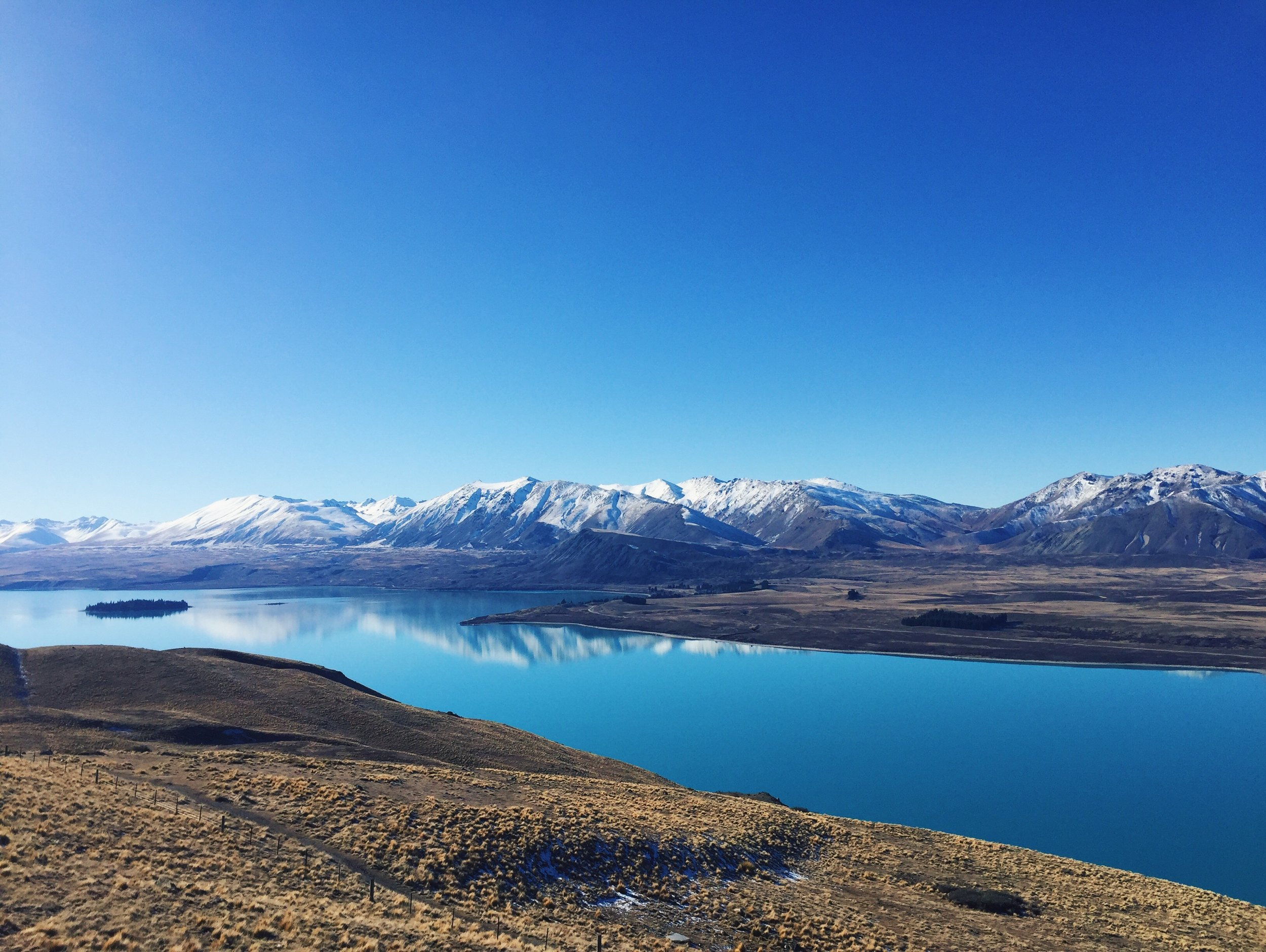 Lake Tekapo as viewed from the Mt. John Observatory