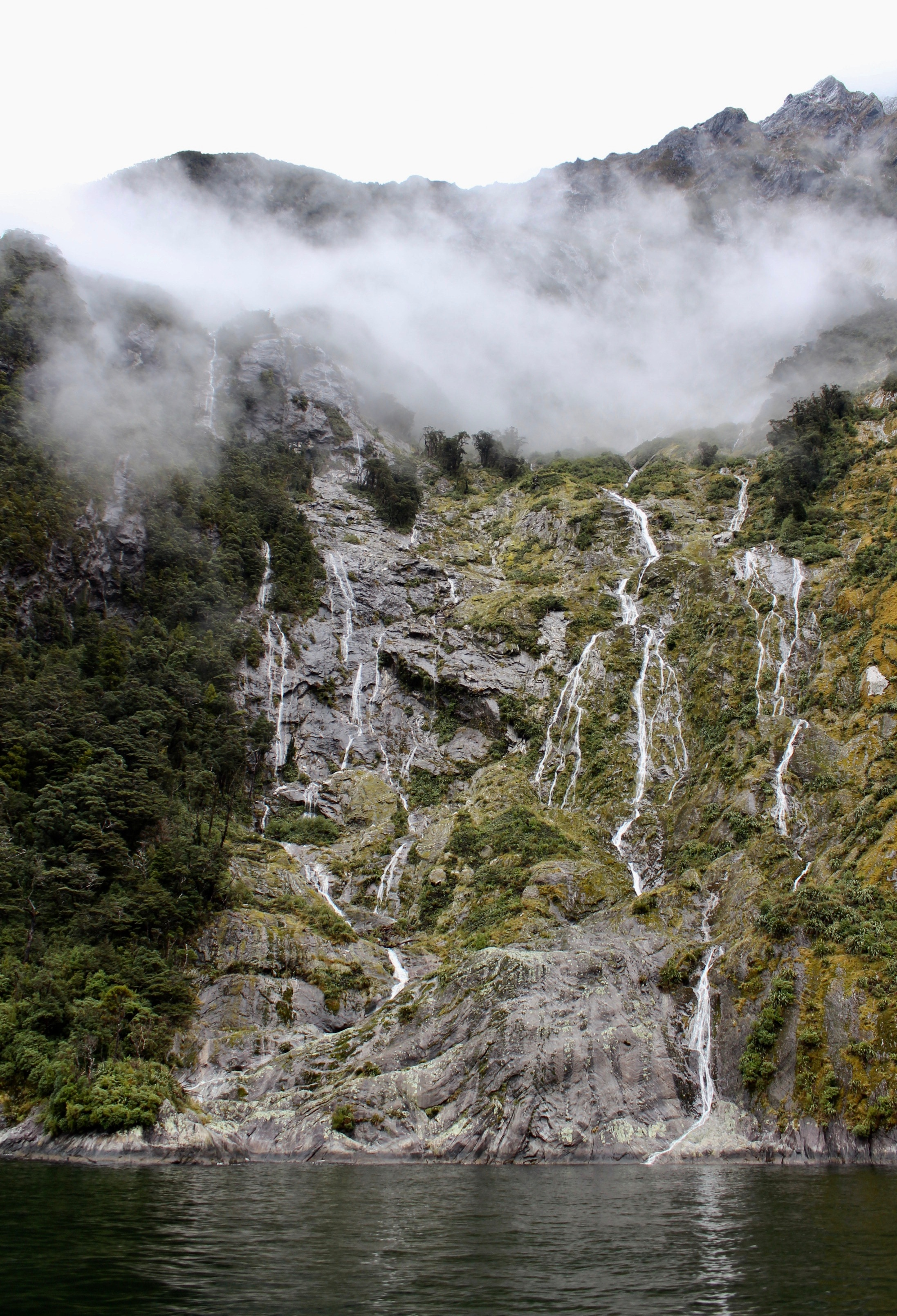 Waterfalls are a common sight in Milford Sound