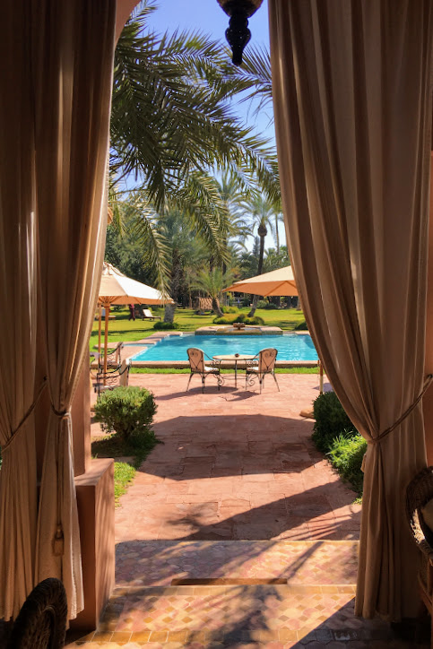 Thanks to careful planning and diligent searching, I was able to stay in  this  gorgeous  luxury riad in Marrakesh  for a steal!