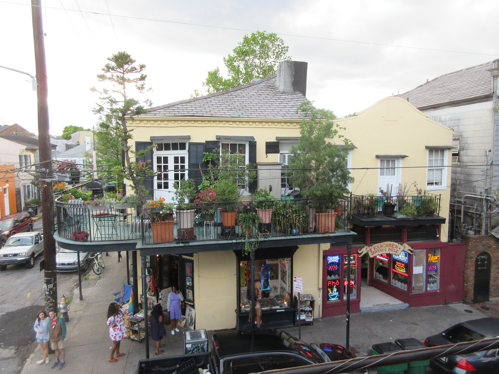 The view from Dat Dog balcony.  Photo  by  Infrogmation of New Orleans  via flickr.