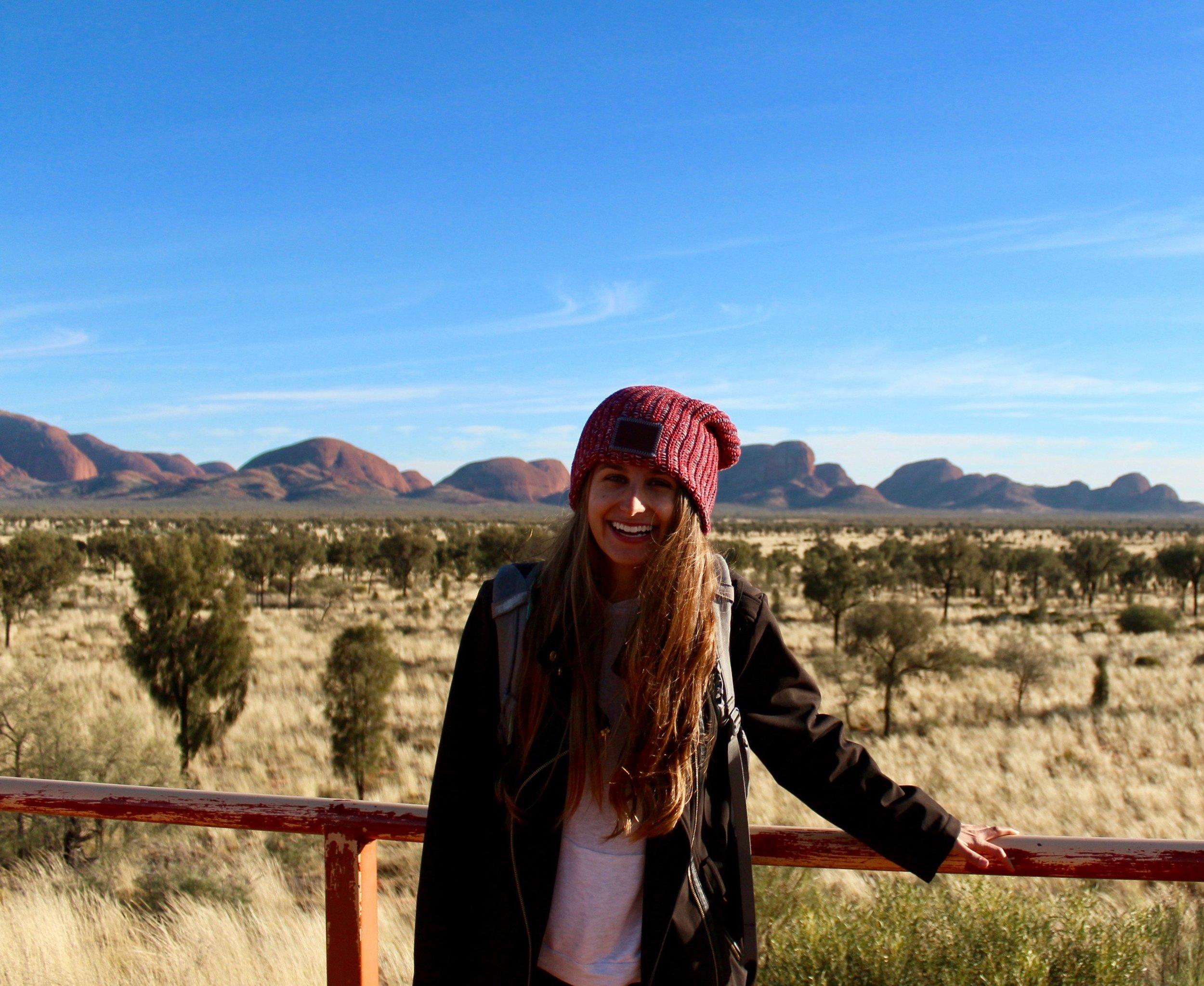 Madeline in front of Kata Tjuta, Australian Outback.jpeg