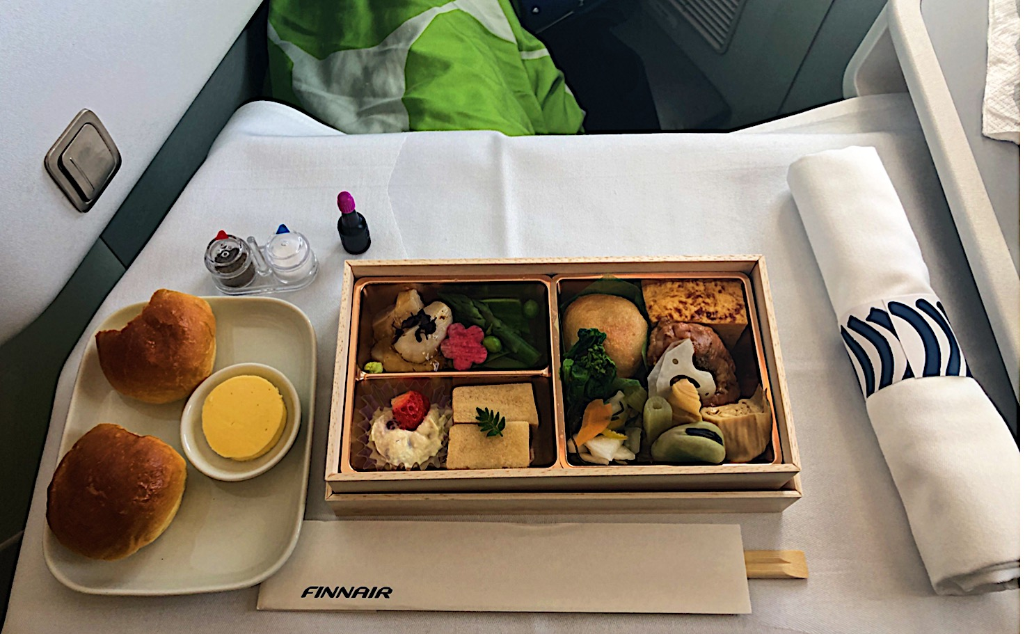 Wonderful Japanese Meal on Finnair Business Class