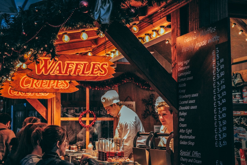 waffle and crepe stand