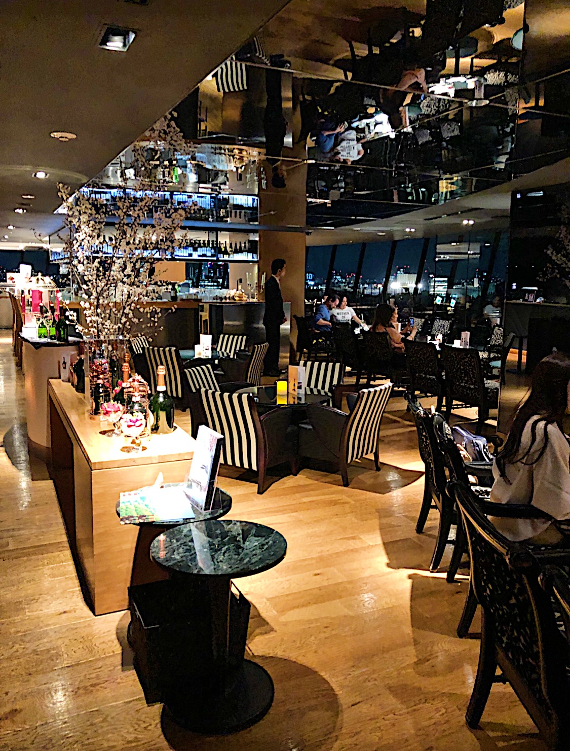 Sky Bar and Restaurant at the Hotel New Otani in Tokyo