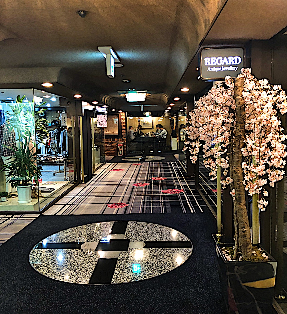 Shopping Arcade in the Hotel New Otani in Tokyo