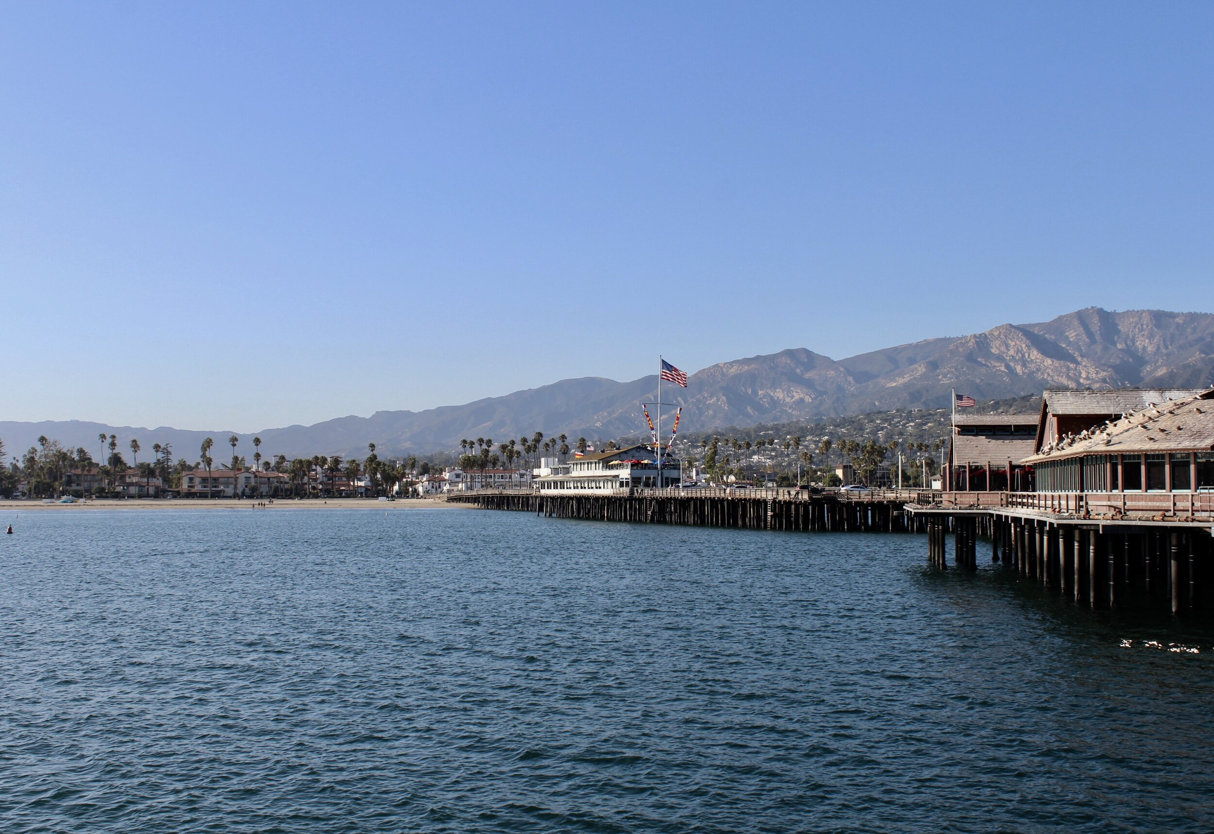 The view from Stearns Wharf