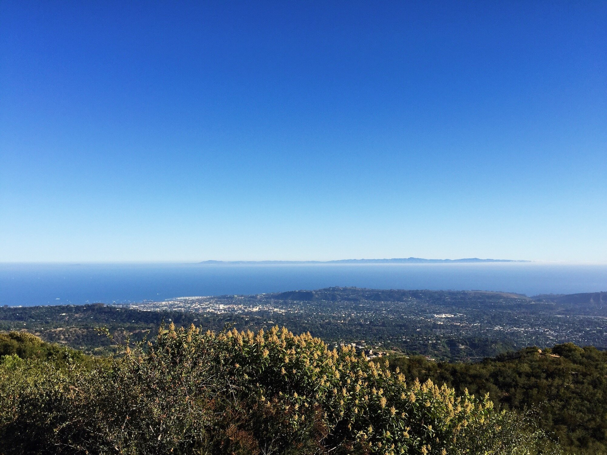 The view from Inspiration Point, Santa Barbara, CA