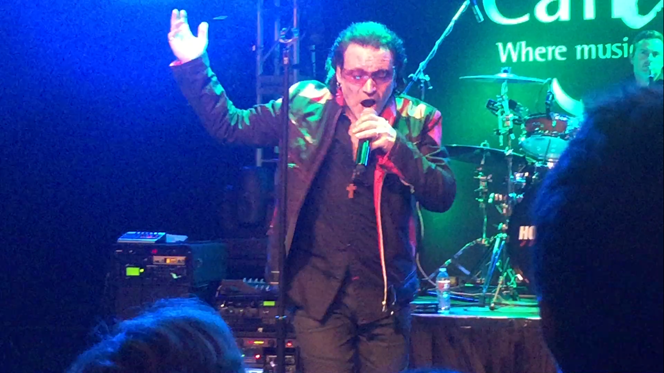 Hollywood Bono totally tore up the stage! Did you know he's preformed alongside the real Bono?