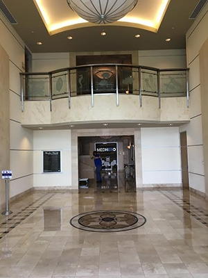 The foyer in our new building