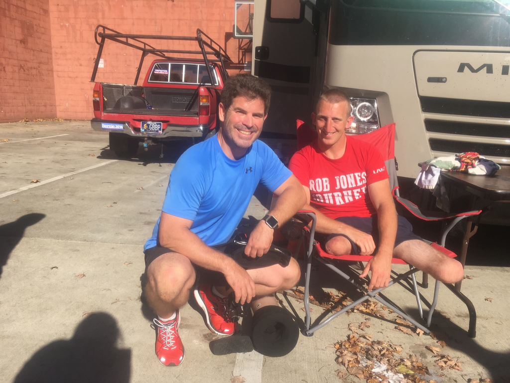 Expert Consultant Paul Viau with marine veteran Rob Jones after running a marathon together