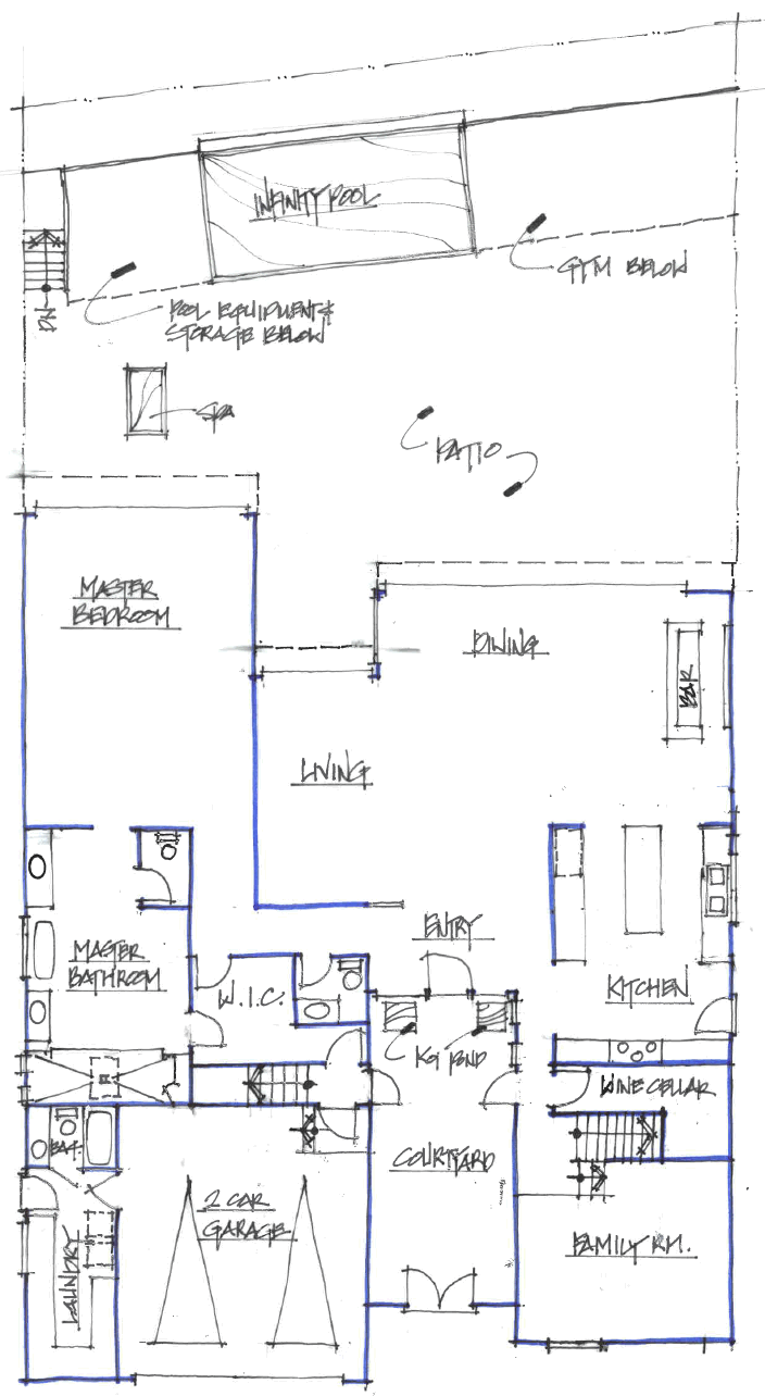 Sketch of Site and First Floor Plan