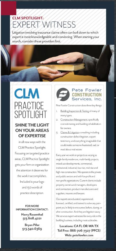 CLM Magazine September Expert Practice Spotlight
