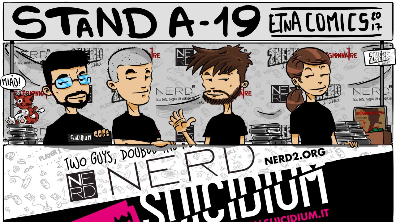 Il team Nerd2 con Valentino Sergi di Suicidium!