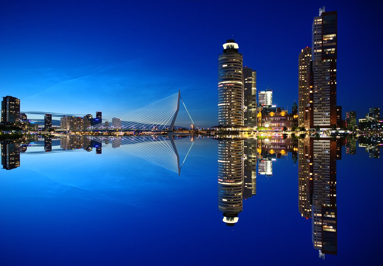 Rotterdam with it's skyline, called the Manhattan of the Netherlands
