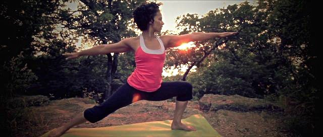 """""""Yoga isn' t about getting it right. It's about being present with the mind, body and breath as you experience the journey unfolding before you with each step - a mindful journey that radiates outward."""" - Teniece Divya"""