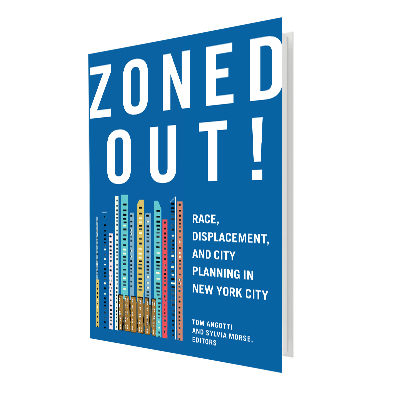 "There is much more continuity with past policies than most supporters of this administration will admit,"" writes CUNY professor Tom Angotti in the introduction to Zoned Out!, the first major academic work to look at de Blasio's housing policy in the context of New York City's long history of development.   Rivlin-Nadler, Max. ""De Blasio's Bloombergian Land Use Plan"" The Village Voice. October 18, 2016."