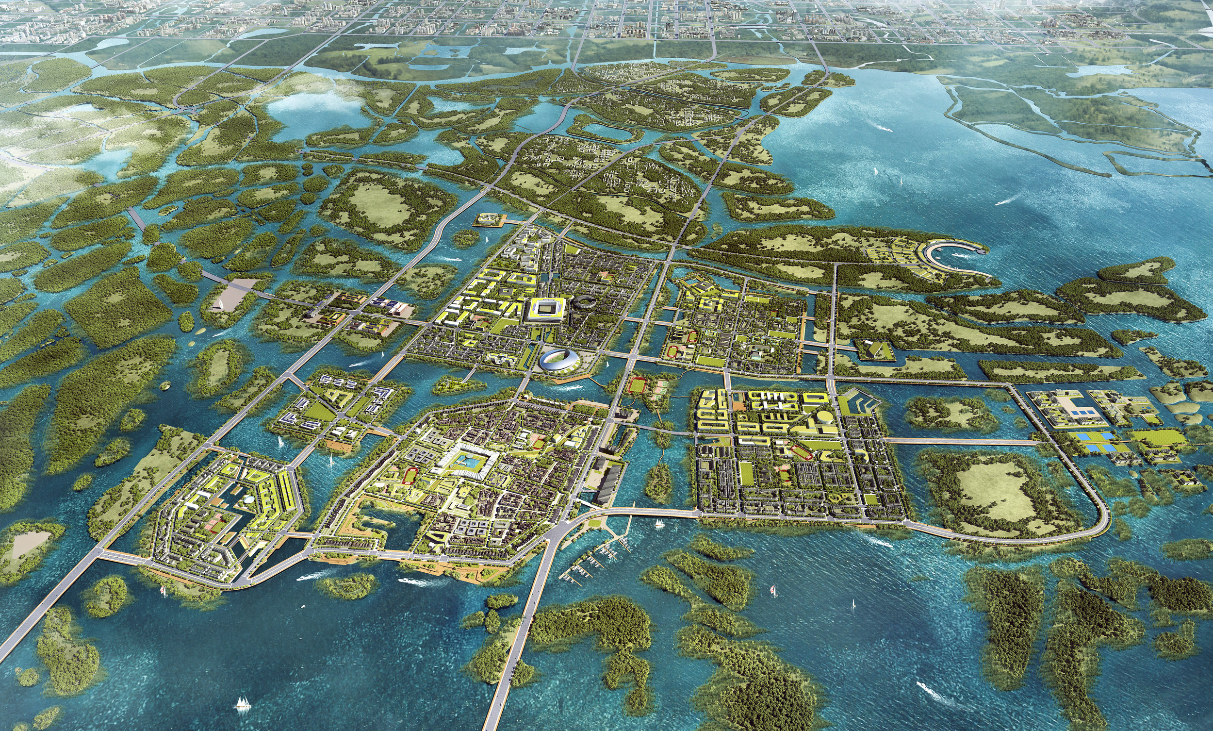 Recover Baiyang Lake: Build the Amphibious City.  Michael Sorkin Studio, 2019. Invited design competition.   More…