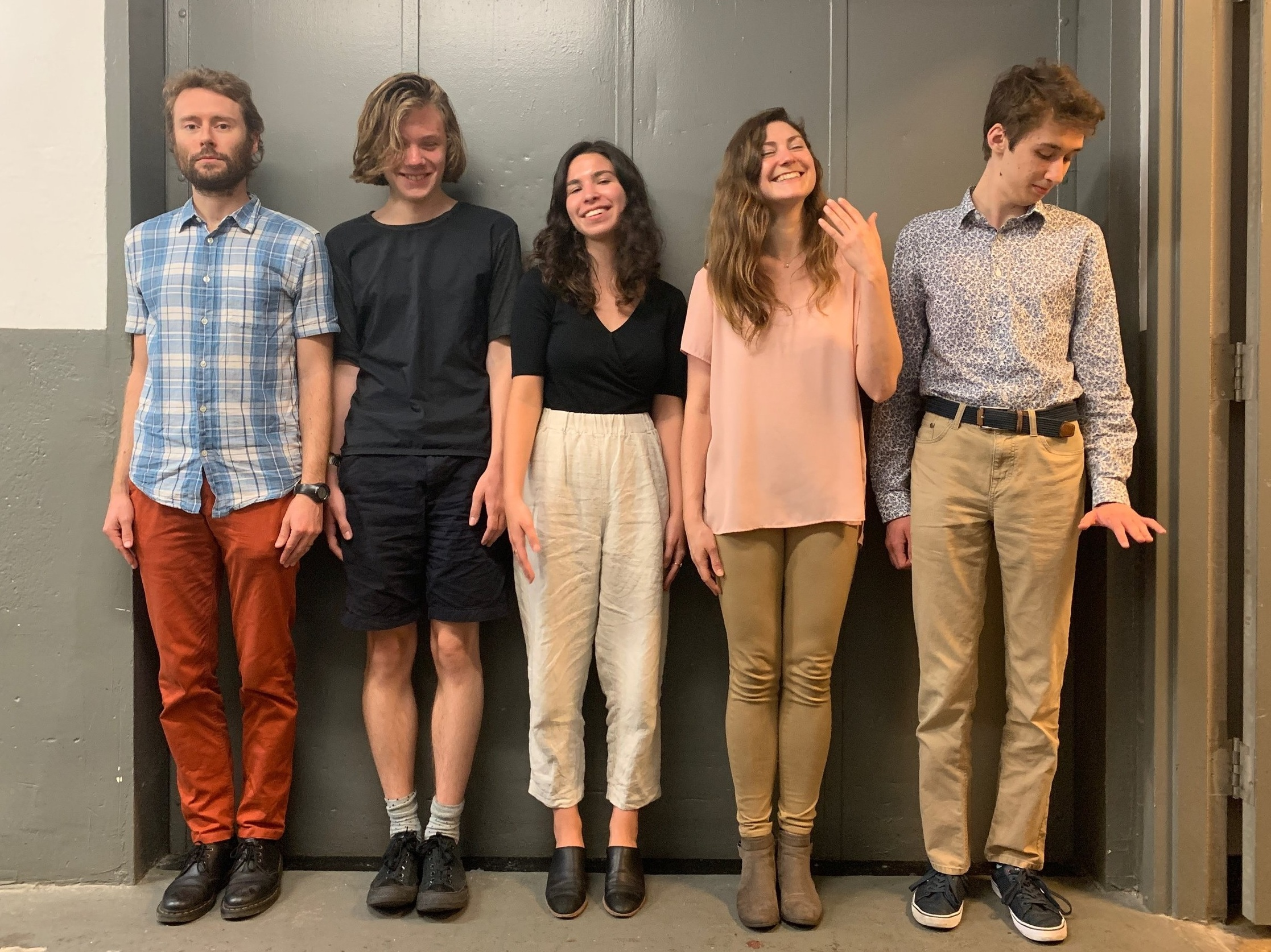 From left to right: Oliver Wright, Theo Brandt, Casey Breen, DeNeile Cooper, and Alex Serbanescu.