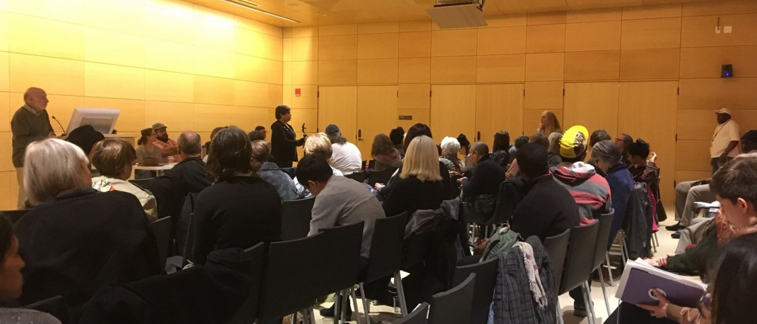 On April 29, 2018 urbanists, activists, and professionals joined together at the New School to participate in the Forum for Real Community Planning in NYC, hosted by Urban@Parsons programs and convened by the editors and writers of   Zoned Out! Race, Displacement, and City Planning in New York City.    Panelists: Tom Angotti & Sylvia Morse; Alicia Boyd; Edwin Figueroa; Marina Ortiz; Lynn Ellsworth; JoAnn Lum; Cea Weaver; and Asher Freeman.  Actionable conversation took place among participants…  More from Urban@Parsons.