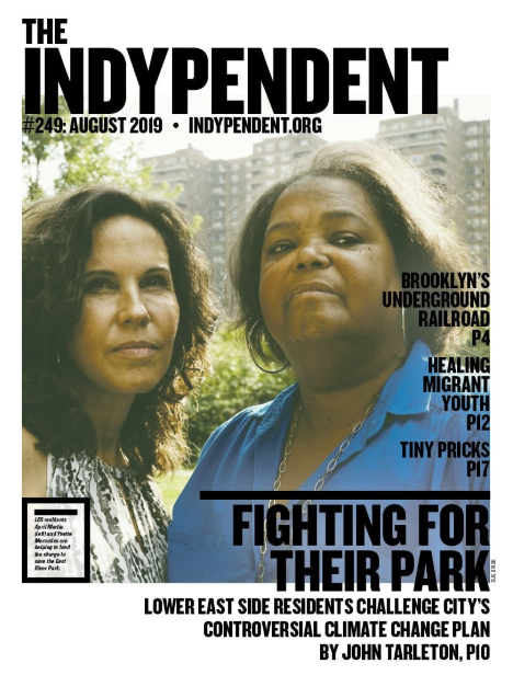 LES residents April Merlin (left) and Yvette Mercedes are helping to lead the charge to save the East River Park.Photo: Sue Brisk.