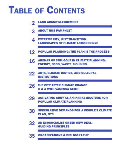 A People's Climate Plan for New York City?  Released September 20, 2019 by Verso.