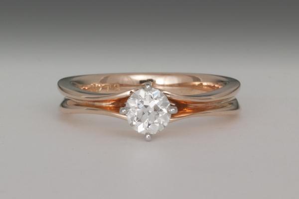 WEB Ladies 4 prong 18K Rose gold w platinum setting  2014 2nd Image 9791.jpg