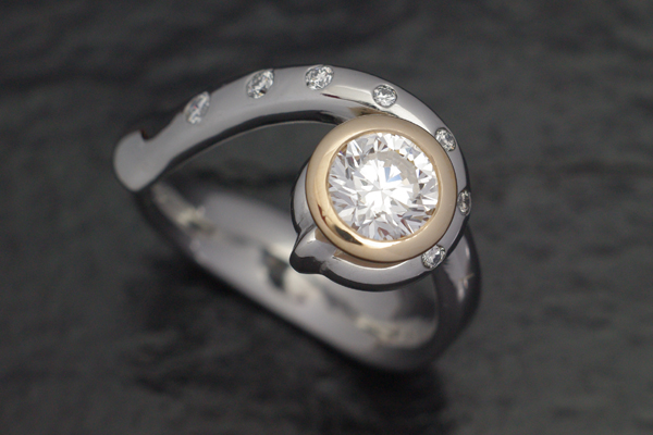 WEB-Weddings-Engagement-Stainless and 18k Yellow-Round Diamond-Bagpipe Design-2011-Image 4505.jpg