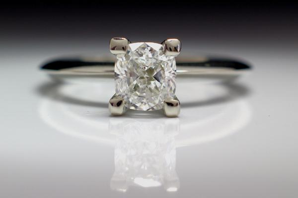WEB-Weddings-Engagement-White Gold-Rectangular Cushion Diamond-Substantial Prongs-2010-Image P3693.jpg