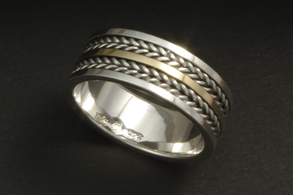 WEB-Weddings-Bands-Sterling and 18k Yellow Gold-Braided Pattern-2009-Image 1895.jpg