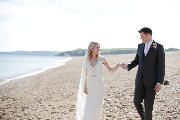 wedding photos on a beach
