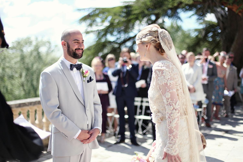 outdoor wedding ceremony chateau Lagorce.jpg
