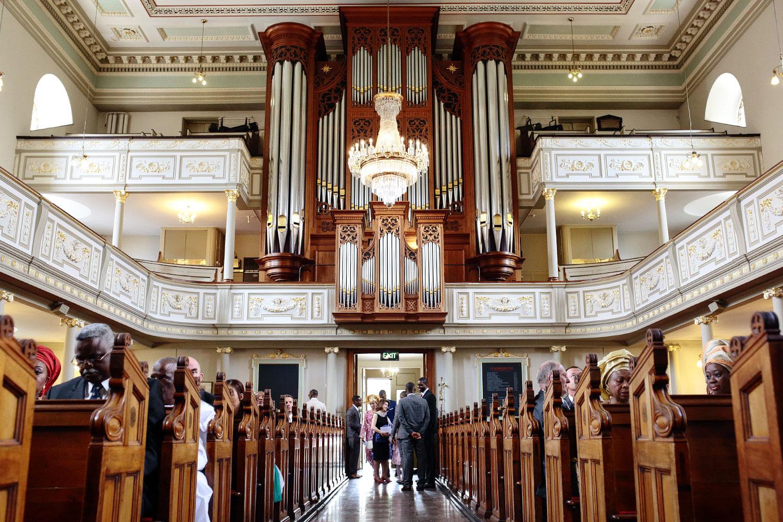 Marylebone church wedding in London