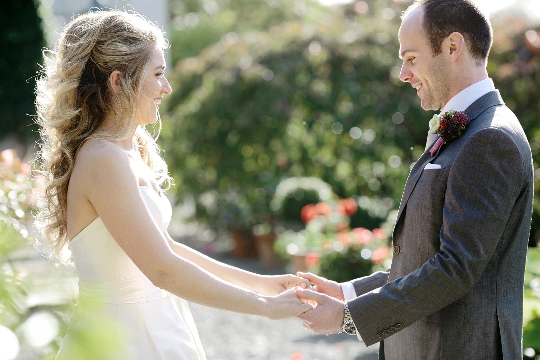Irish wedding first look