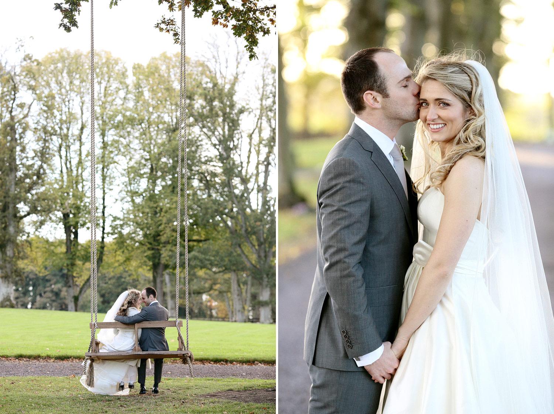 Tankardstown House wedding venue bride and groom