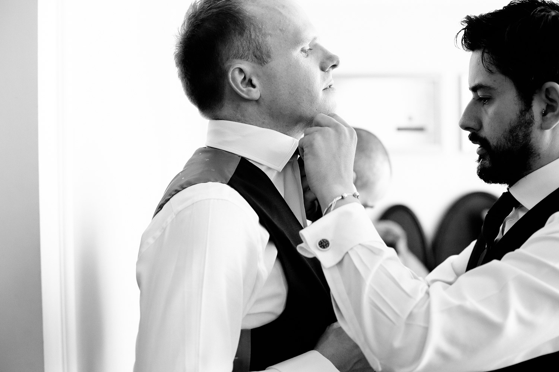 groom getting ready photo Castlemartyr Resort Cork