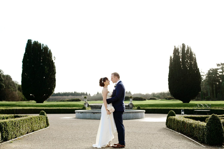 bride and groom portrait Castlemartyr Cork