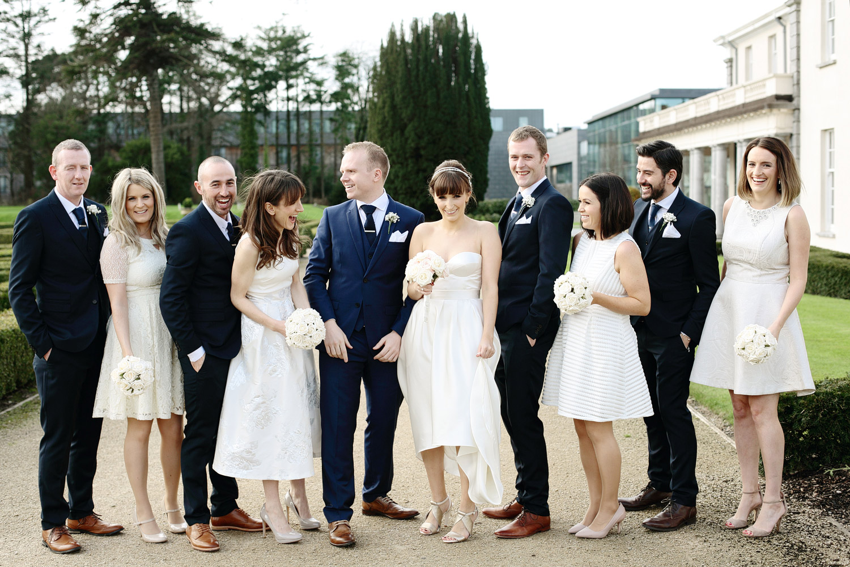 Castlemartyr wedding bridal party photo