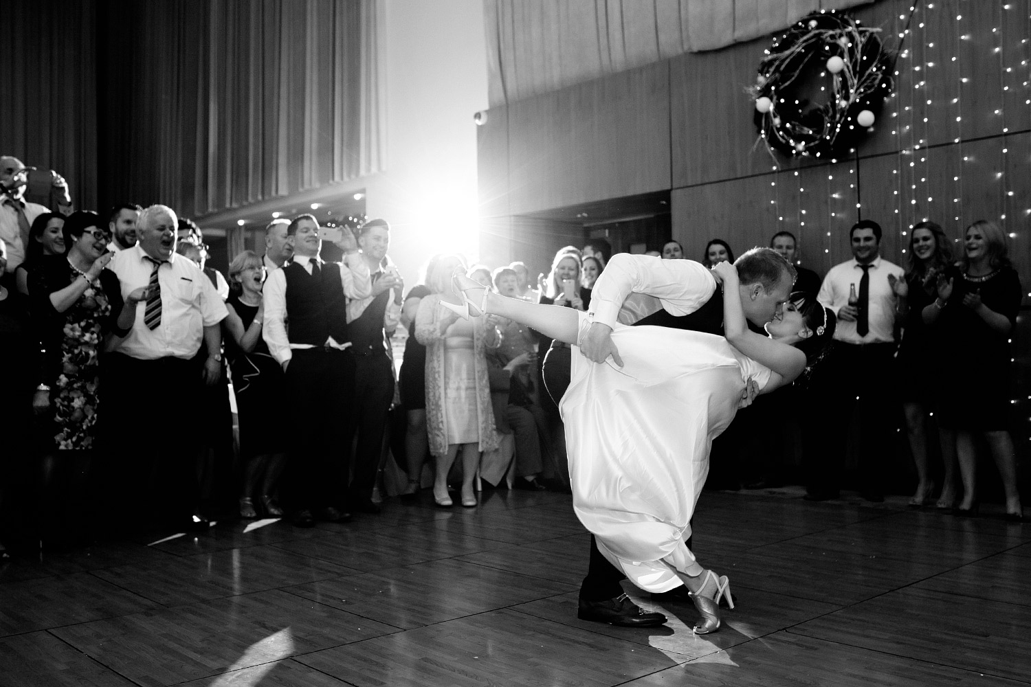 bride and groom first dance photo Castlemartyr Cork