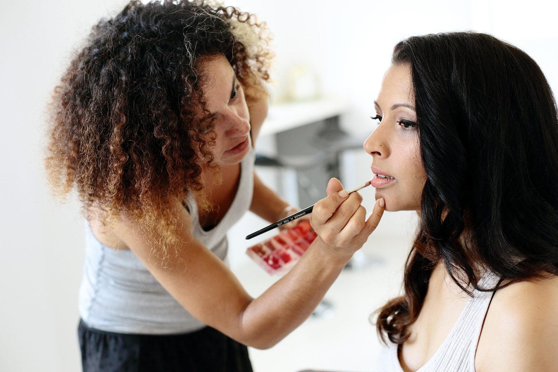 bride make-up photo at Elixir Ibiza