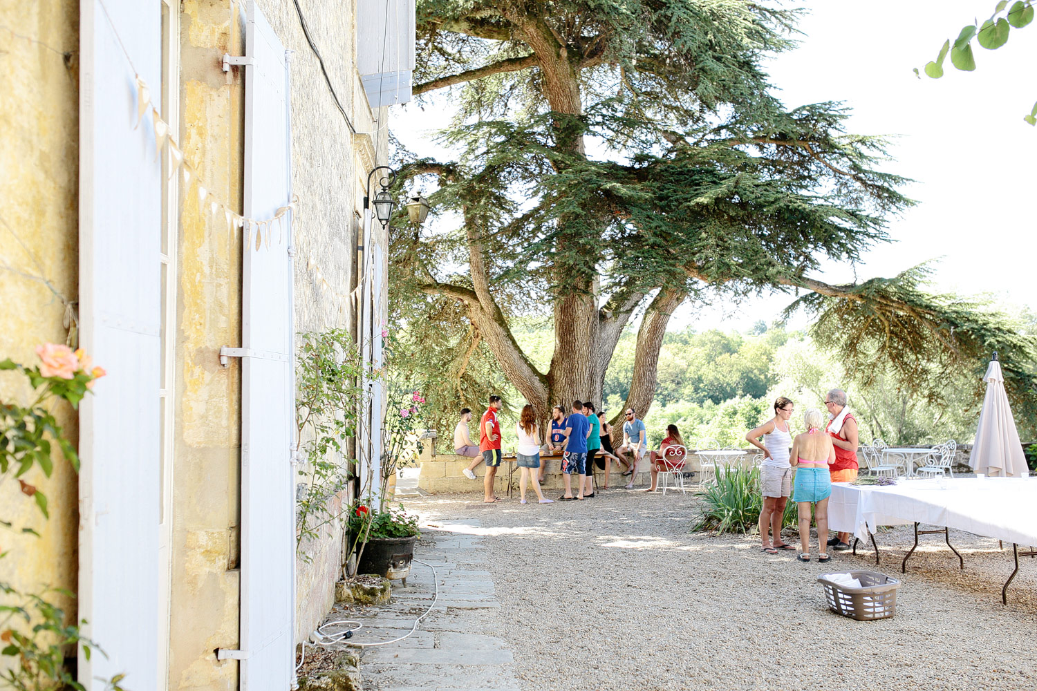 wedding preparations at chateau lagorce in bordeaux