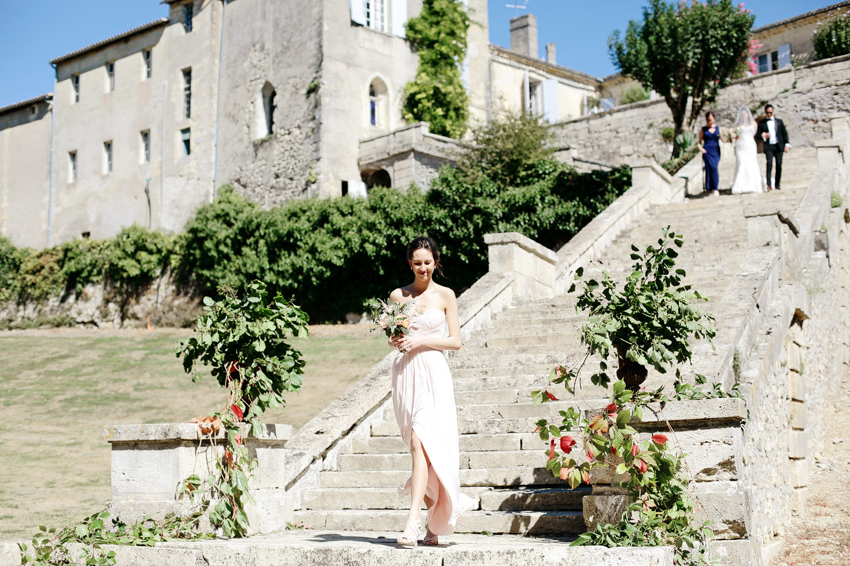 outdoor wedding ceremony chateau lagorce bordeaux